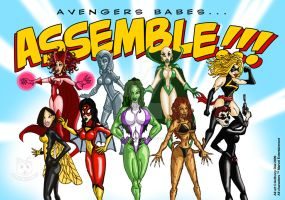 Avengers Babes...Assemble by Gummibearboy