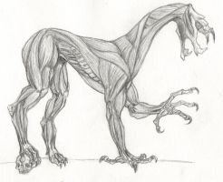 skinned four-legged hell tormenter by DarkSideOfDuzio