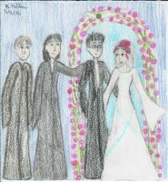 Lily and James Potter wedding by Selfsecret
