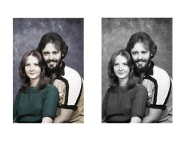 my parents in color by archangel-fx