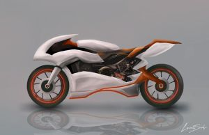 Motorcycle Concept by LaurensSpruit