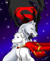 Wolf and Krypto fanfic cover by Santopecado