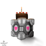 Cake and Cube by LittleMissTwitchy