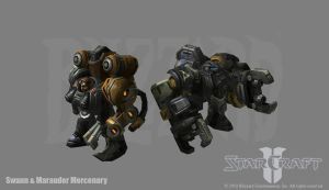 Starcraft 2: Swann + Marauder by PhillGonzo