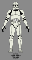 Clone Trooper - Phase II Armor by BCMatsuyama