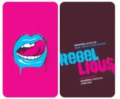 Rebellious Business Card by 4NJ4