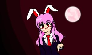 Bespectacled Reisen drawing by GlassMan-RV
