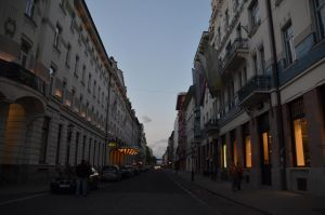 City Street at Dusk by Very-Free-Stock
