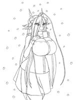 Nagala Christmas 2011 Lineart by Doom-san