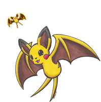 Pokemon Fusion - Pikabat by Sea-Salt