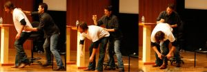 Misha signing on Jared by Maz6277