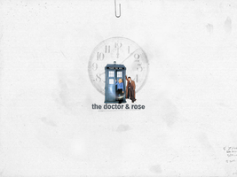 The Doctor and Rose by rainydaywomen