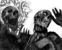 GHOSTRIDER AND DEADPOOL ZOMBIE by suspension99