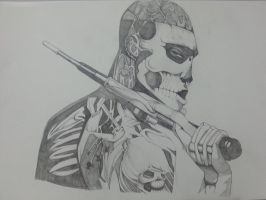 Tattooed Freak Drawing (47 ronin) by Gemscale