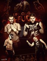 Kevin steen Vs El generico  LIFELONG FEUD Poster by Mohamed-Fahmy