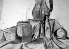 More charcoal work by McKravendrawings