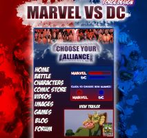 Marvel Website by ForgeDesign