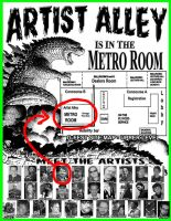 G-Fest Artist Alley map by KaijuSamurai