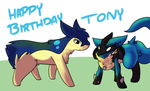 We Enjoy Crawling~ Happy Birthday Tony by BlazingFalchion
