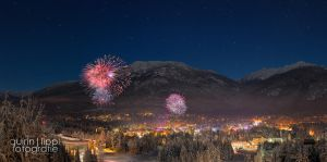 Whistler Silvester Panorama bei Nacht by quintz