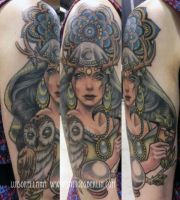 gipsy girl tattoo by mojoncio