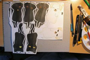 WIP Cats and Dogs Bookmarks by rea-drawingzone