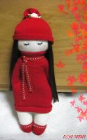 Girl in Red - Sock doll by httpecho