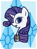 Pony Portraits: Miss Rarity by LaurenBam