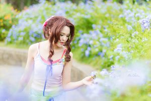 Crisis Core FFVII: Aerith Gainsborough by JoviClaire