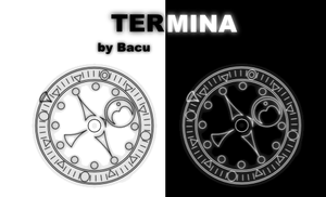 Rainmeter - Termina Clock 1.01 by Bacushi