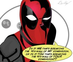 A Philosophical Question Featuring Deadpool by ProjectCornDog