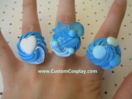 Blue sweet candy rings by The-Cute-Storm