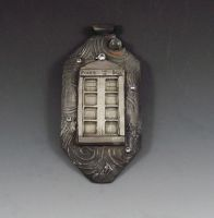 Tardis Pendant in Steel by Peaceofshine
