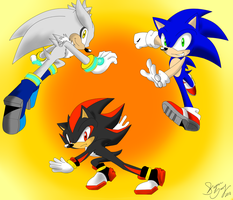 THREE HEDGEHOGS by WhiteFire-Inc
