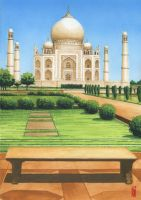 Taj Mahal by toniart57