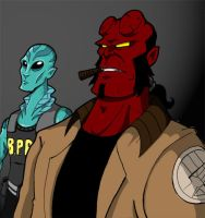 Hellboy + Abe colored by Gigatoast
