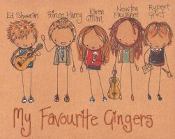 My Favourite Gingers by Pinkie-Perfect
