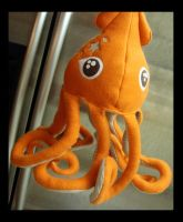 Orange Squid Plush 1 f by TheCurseofRainbow