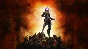 Tali Zorah vas Normandy 2.wide by Melasfatum