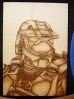 Halo/ master chief woodburn by Skeletor11