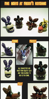 Five Nights at Freddy's Keychains by sl4ughtermelon