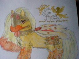 My Sun Phoenix Pony -  Pony Persona 1 of 3 by FlutterValley