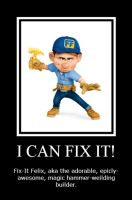Fix-It Felix Jr. - Motivational #3 by Cocohorse