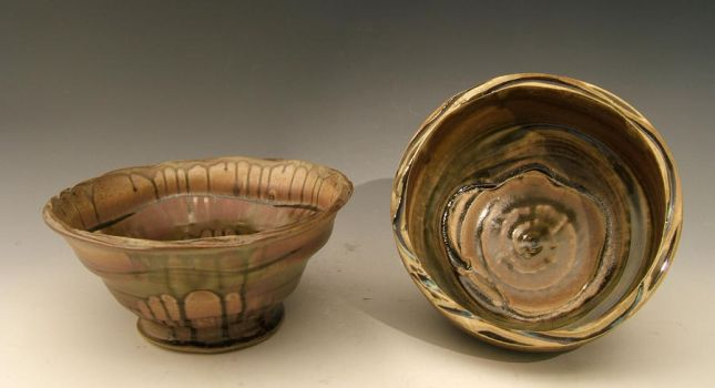Wide Altered Bowl and Bowl by ThatDirtyKid