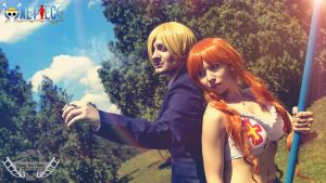 Nami and Sanji READY FOR THE BATTLE! by AmuChiiBunny