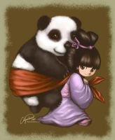 Panda Girl by celyne