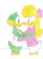 Plucky and Shirley by Jose-Ramiro