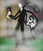 Slenderman and Jeff by TenebrisReginae