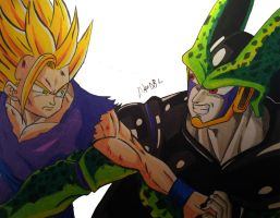 Gohan Vs Cell by MikeES