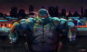 TMNT: Quiet Night by P-JoArt